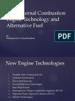 New Internal Combustion Engine Technology, Alternative Fuel