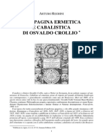 Arturo Reghini Una Pagina Ermetica e Cabalistica Di Osvaldo Crollio
