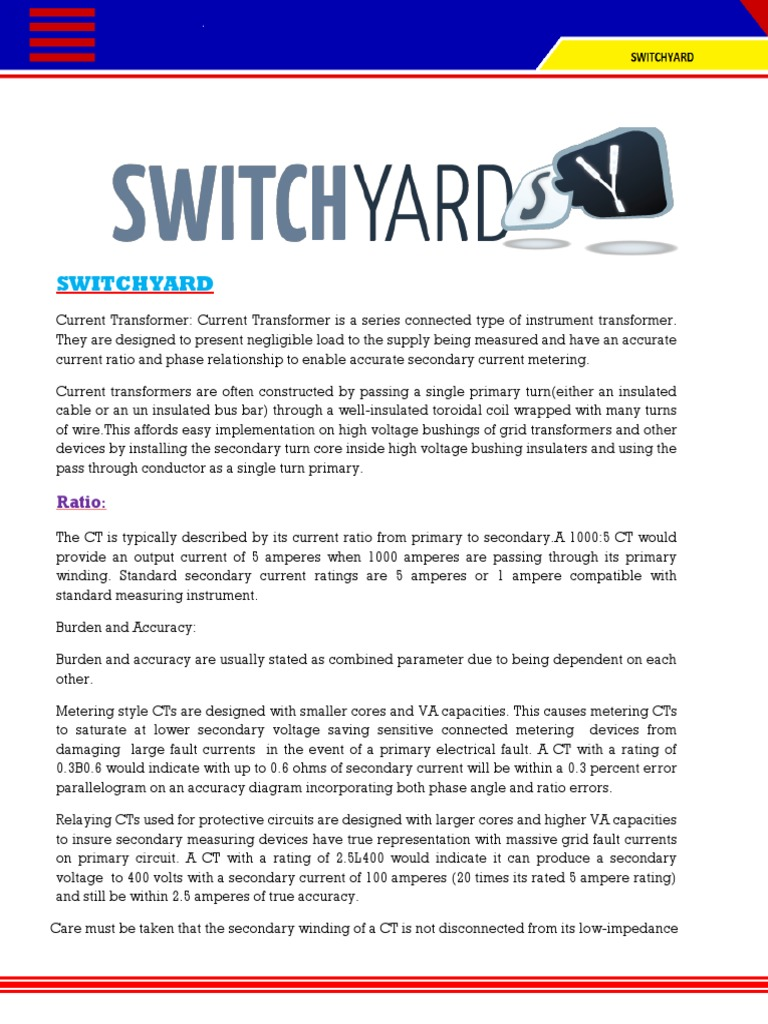 Switchyard (2)PDF | Electrical Equipment | Transformer