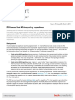 FYI 2014 0306 IRS Iss Final ACA Report Regs