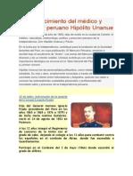 Fallecimiento Del Médico y Precursor Peruano Hipólito Unanue