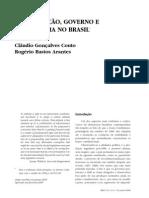 ARANTES, Rogerio; COUTO, Cláudio - Constituição, Governo e Democracia No Brasil