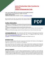 Artcle Review--By Dr.m Tariq Alvi (Ms-Ent)