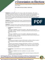 COMELEC Resolution No. 201401 - Ratification of Electoral Code 2014