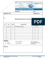 P07-F06 Method Statement for Concreting