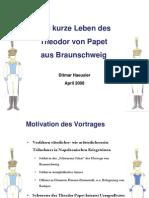 Das Kurze Leben Des Theodor Von Papet Aus Braunschweig, Capitain Im 3. Westphälischen Linienregiment