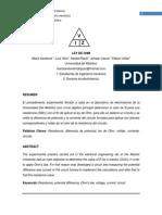 Electrotecnia Informe Ley de Ohm
