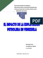 El Impacto de La Explotación Petrolera