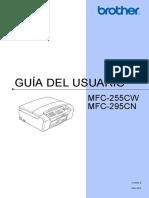 Manual de Usuario Brother Mfc 295cn