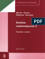 Analiza Matematyczna 2 Przyklady I Zadania - Gewert Skoczylas