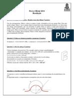 Prova Definitiva 2011 Gabarito Oficial Traduzido