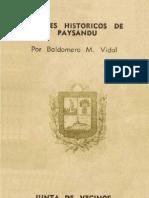 Apuntes historicos de Paysandu - Baldomero Vidal