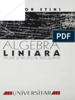 Algebra Liniara, by T. Stihi, 1999