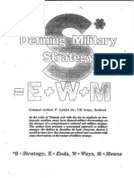 Defining Military Strategy