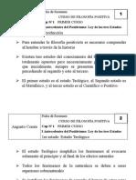 Filosofía Política - Augusto Comte (Fichas Resumen)