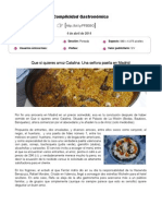Complicidadgastronomica.es, 4 de Abril de 2014