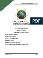 Managing Business Individual Assignment APU