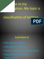 Knitting Classification GUB Sifat