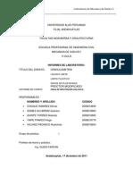 Informe de Granulometria Uap