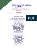 CANCIONES, ORACIONES Y TEMAS A MARÍA.doc