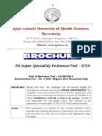 Brochure PGSSET 2014 rguhs