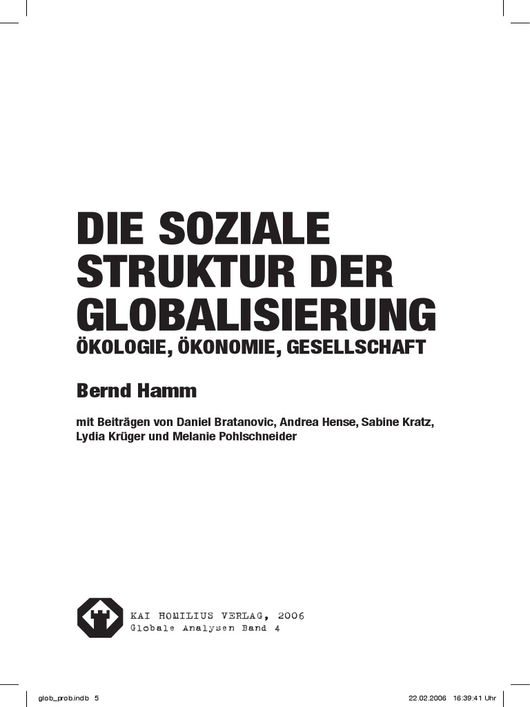 Die soziale Struktur der Globalisierung - ÖKOLOGIE, ÖKONOMIE ...