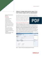 HCM Fusion HR Analytics