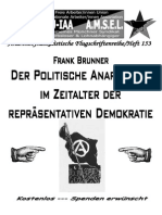 """""""Der Politische Anarchismus im Zeitalter der Repräsentativen Demokratie"""", Frank Brunner"""