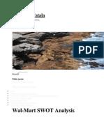 SWOT for WalMart Store