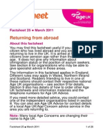 Returning From Abroad Info