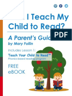 Can I Teach My Child to Read? A Parent's Guide
