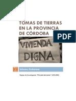 2013 Tomas de Tierras en La Provincia de Córdoba