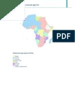 Referencias Mapa Reparto de Africa