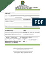 Formulario Inscricao Promisaes 2014