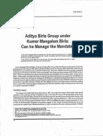 Aditya Birla Group Under Kumar Mangalam Birla (Case)