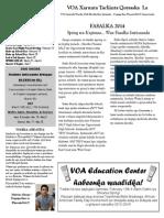 voa ed center winter newsletter - 2014 somali 1
