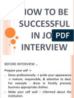 How to Be Successful in Job Interview akper pemprov