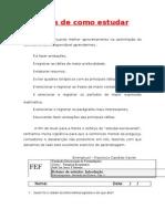 Roteirros de Estudo de Farmacognosia