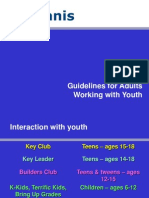 guidelines for adults working with youth