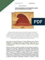 Dominación, derecho, propiedad y economía política popular
