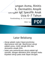 Hubungan Asma, Rinitis Alergik, Dermatitis Atopik