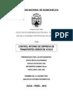 Sistema Control Interno de La Empresa de Transporte WARIVILCA S.a.C
