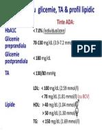 Tinte pentru  glicemie, TA & profil lipidic