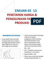 Bab 13-Penetapan Harga Dan Penggunaan Faktor Produksi