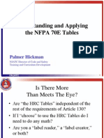 A Simplified Approach to the Nfpa 70e Tables Method