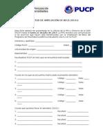 Solicitud Ampliacion de Beca 2014 2