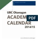 UBC Okanagan Calendar Fees 14 15