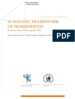 Scientific Framework Homeopathy 2013