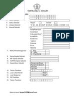 Format Verifikasi Data Sekolah 2013
