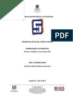 Informe Del Estado de Control Interno Mar 2014 a Jul 2014